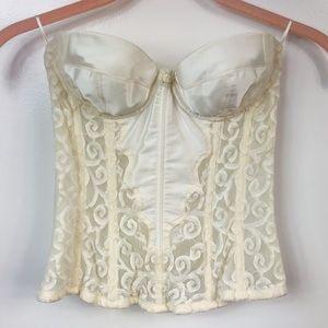 Vintage Victoria's Secret Lace Ivory Corset 34A
